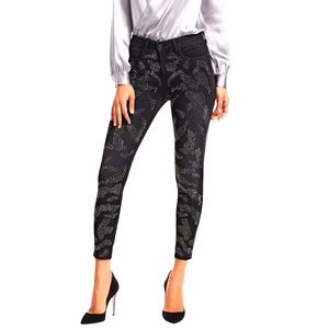 NEW L'AGENCE MARGOT SKINNY ANKLE CRYSTAL JEANS